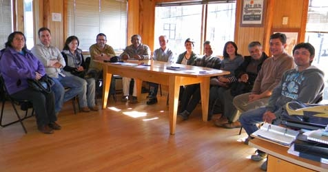 Dirigentes indígenas con Ecopower