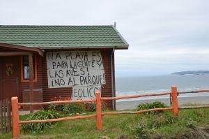 Casa en Mar Brava opositora al Parque Eólico Chiloé