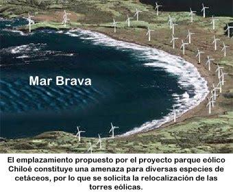 Parque Eólico Chiloé en Mar Brava
